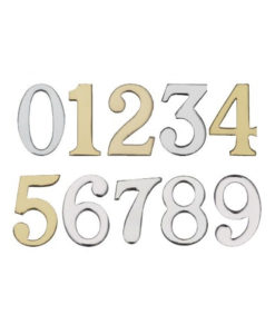 0-9 Self Adhesive Solid Brass Door Numerals