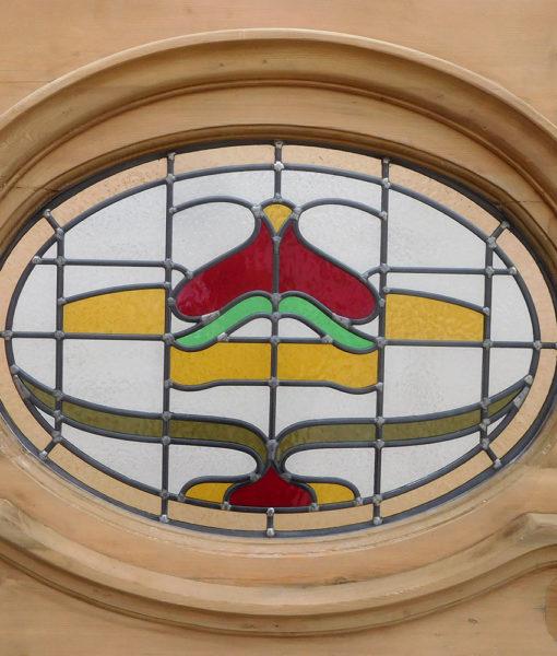 1930s Art Nouveau Restored Reclaimed Door