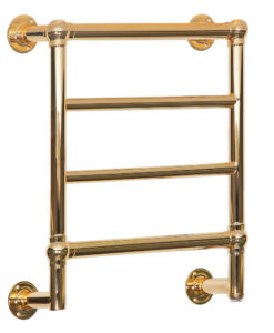 Kora Wall Mounted Polished Brass Towel Radiator