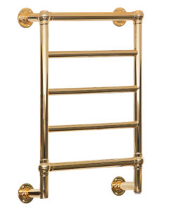 Kora Wall Mounted Polished Brass Towel Rail