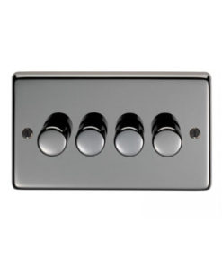 Black Nickel Quad LED Dimmer Switch (400W/800W)