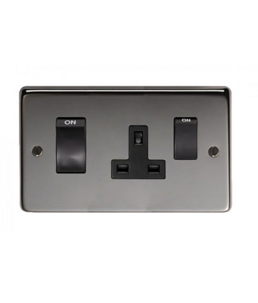 Satin Stainless Steel 45 Amp Switch & Socket
