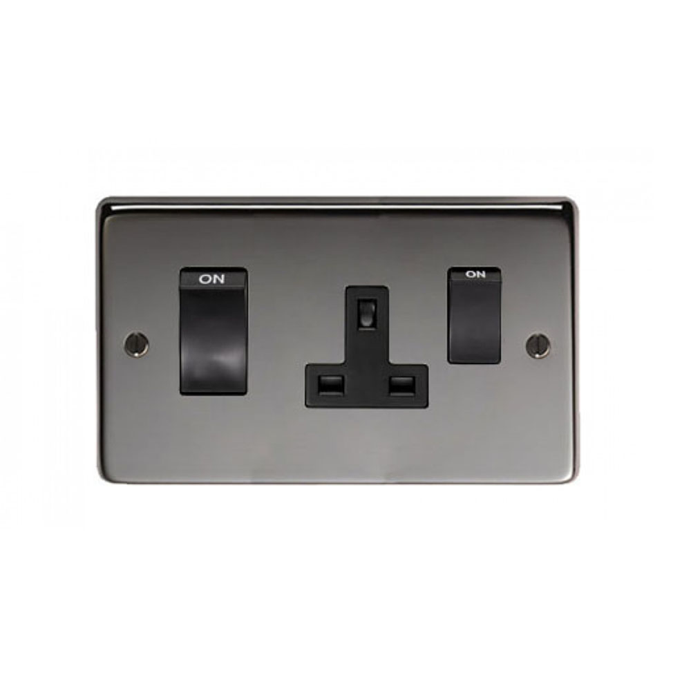 Black Nickel 45 Amp Switch Amp Socket Period Home Style