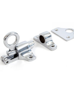 Polished Chrome Fanlight Catch With Two Keeps