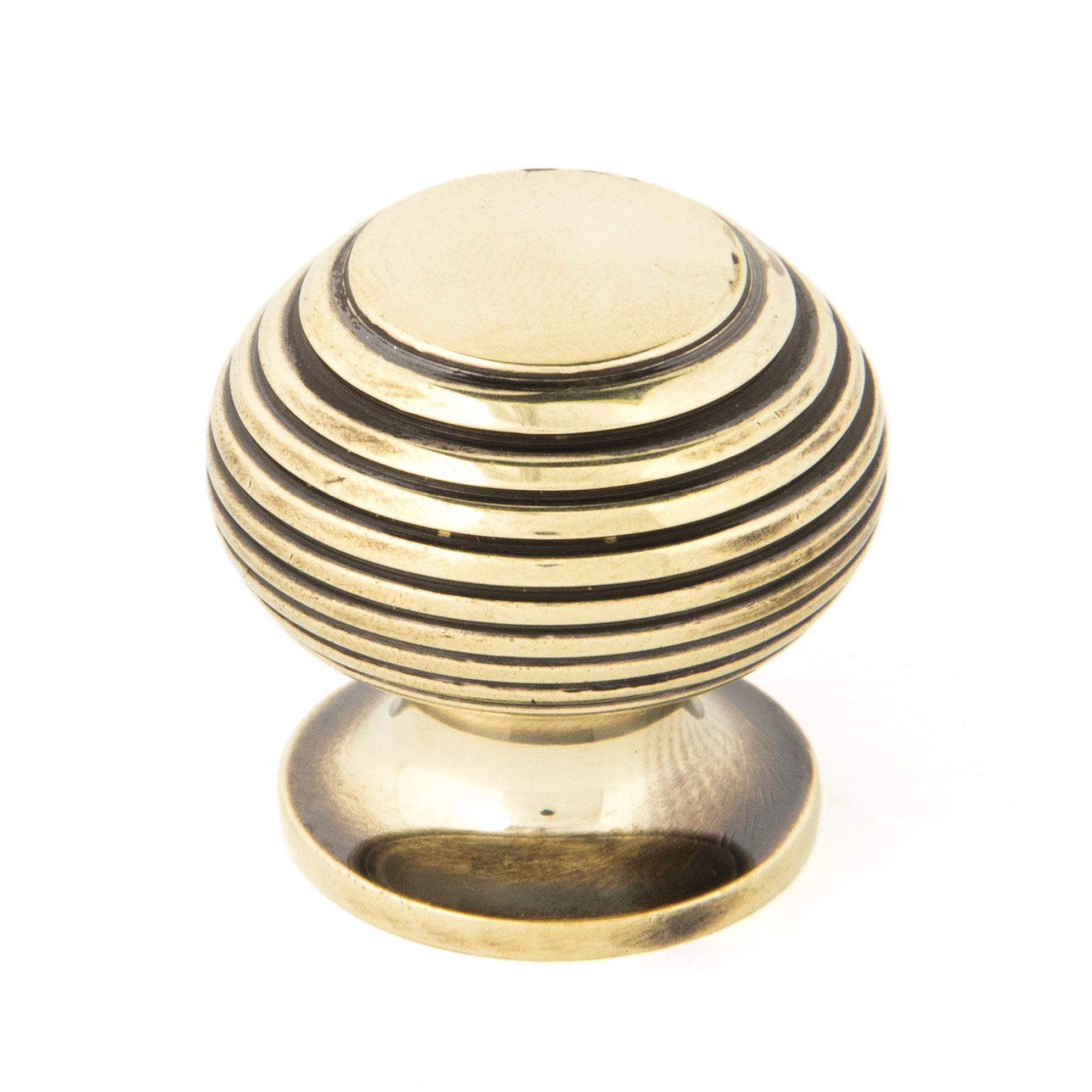 Small antique brass beehive cabinet knob from period for Furniture knobs