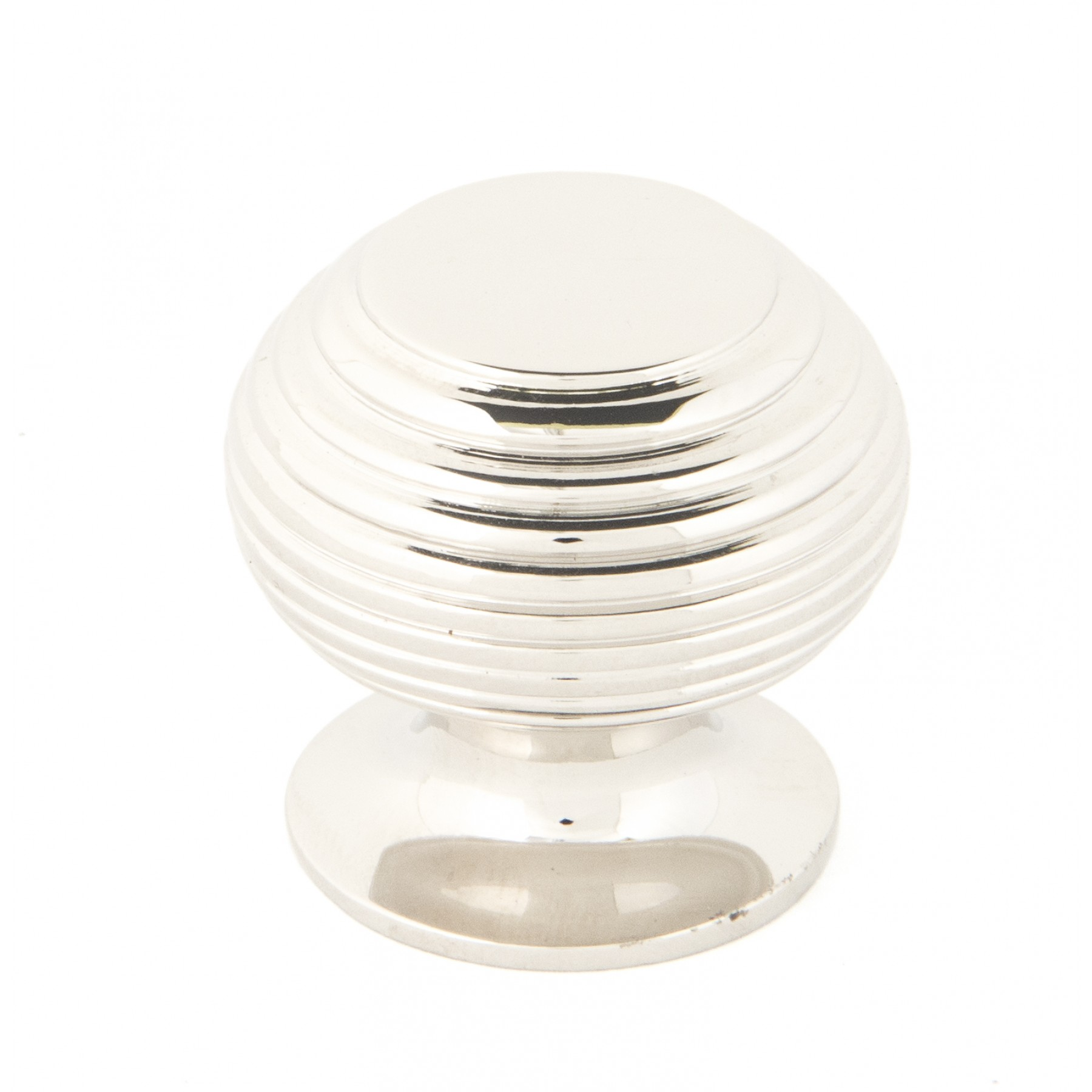 Small Polished Nickel Beehive Cabinet Knob