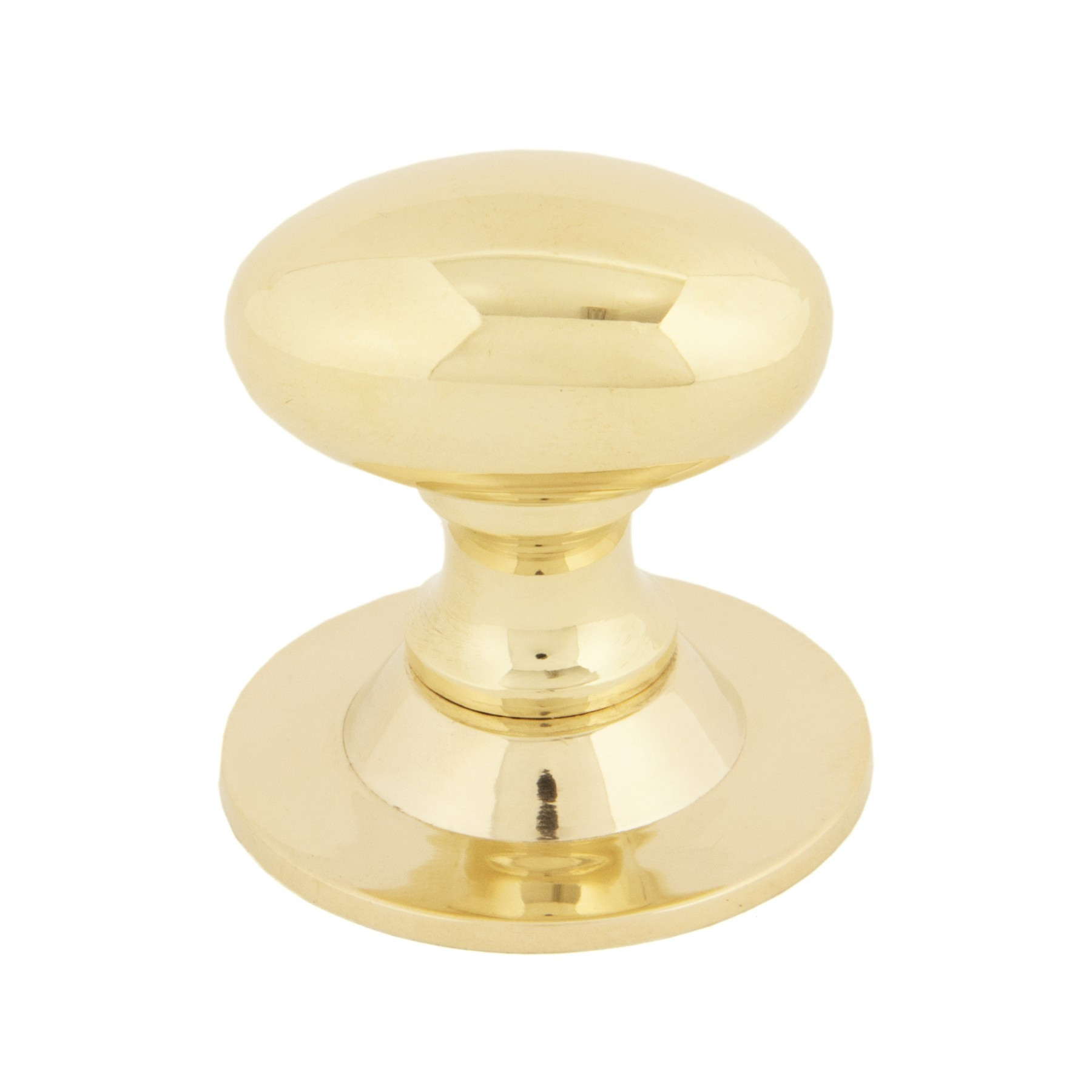 Small Polished Brass Oval Cabinet Knob