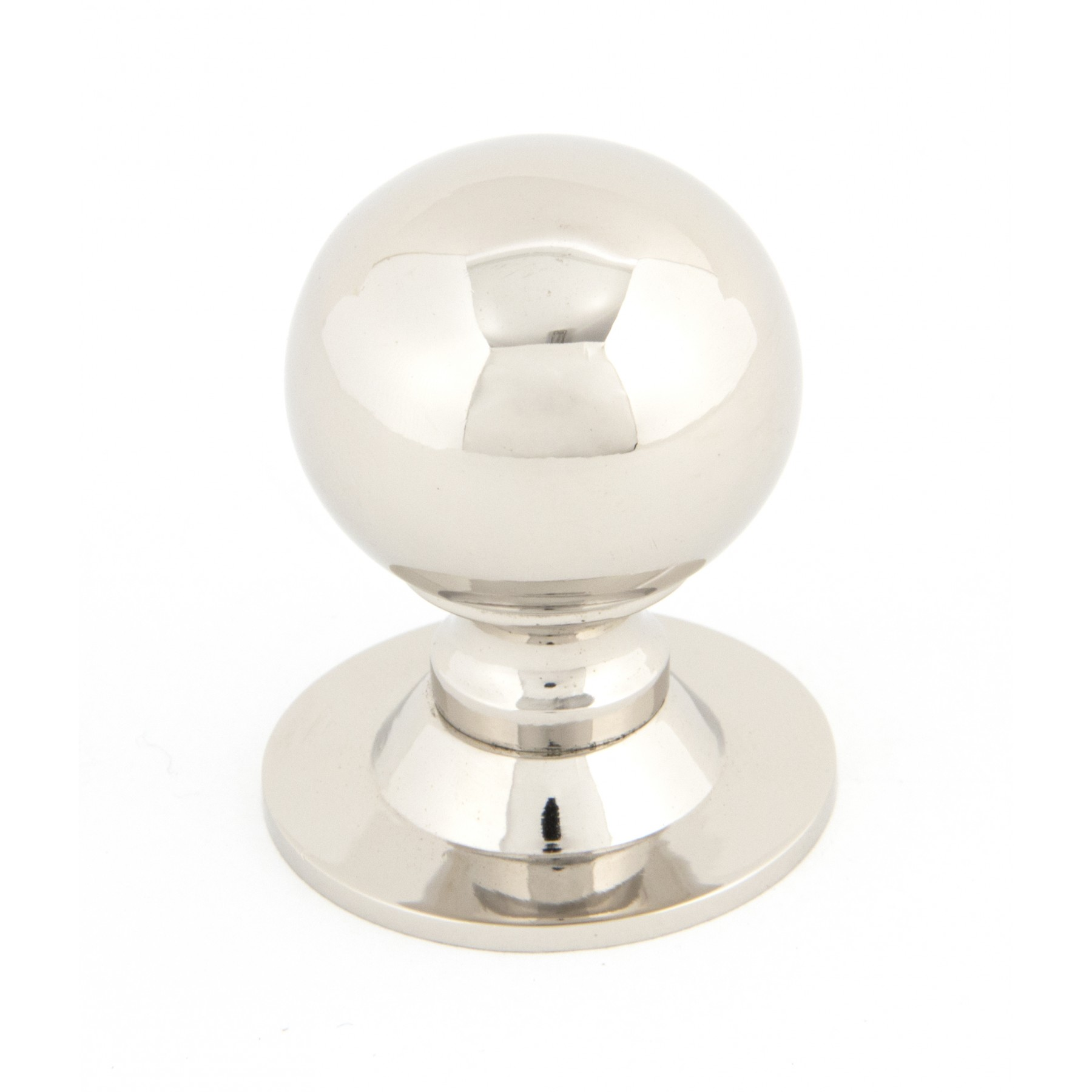 Small Polished Nickel Ball Cabinet Knob
