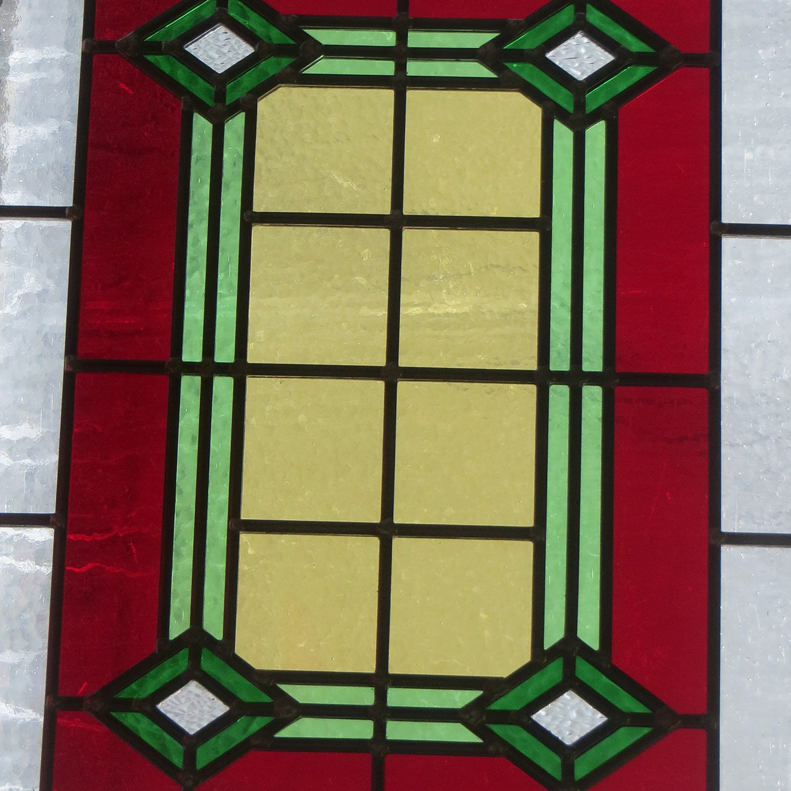 Bespoke 1930s art deco stained glass from period home style for 1930s stained glass window designs
