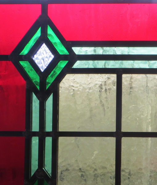 SG002 - 1930s Art Deco Stained Glass Panel