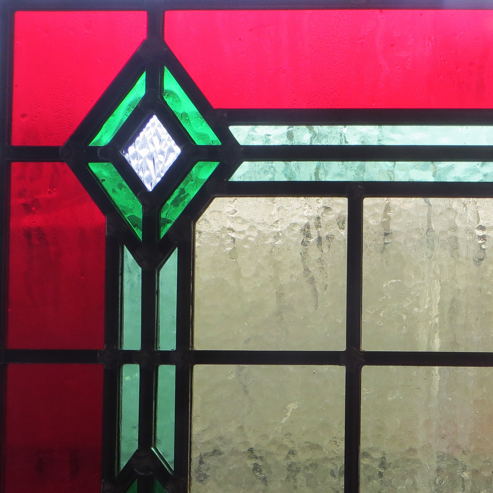 Bespoke 1930s Art Deco Stained Glass From Period Home Style