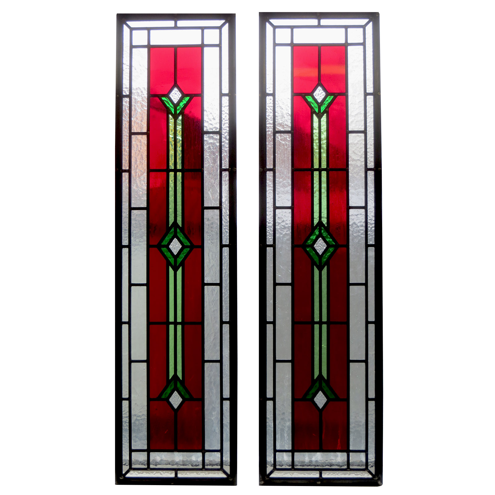 Contemporary art deco stained glass from period home style for Contemporary stained glass