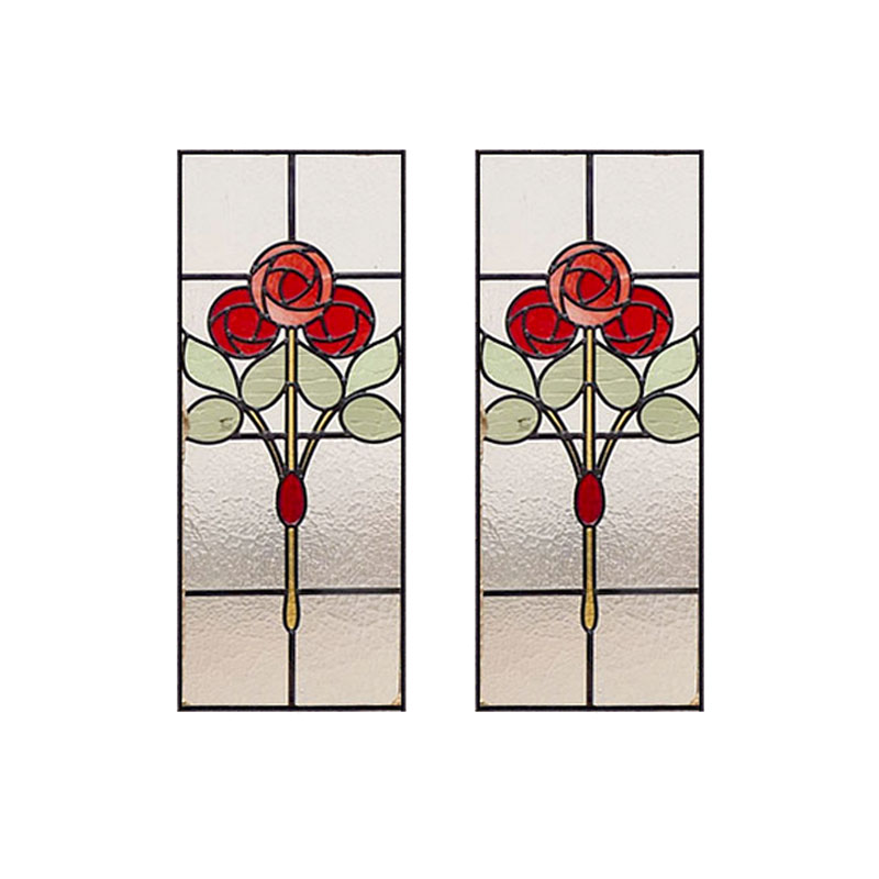 Victorian Mackintosh Rose Stained Glass From Period Home Style