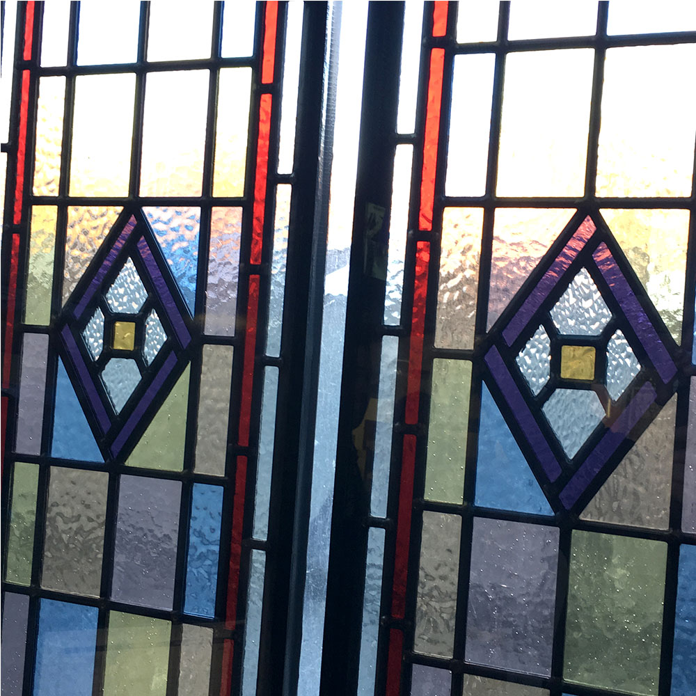 Detailed Victorian Stained Glass Panels From Period Home