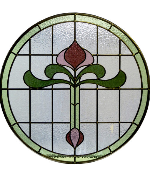 SG013 - 1930s Art Nouveau Stained Glass Panel