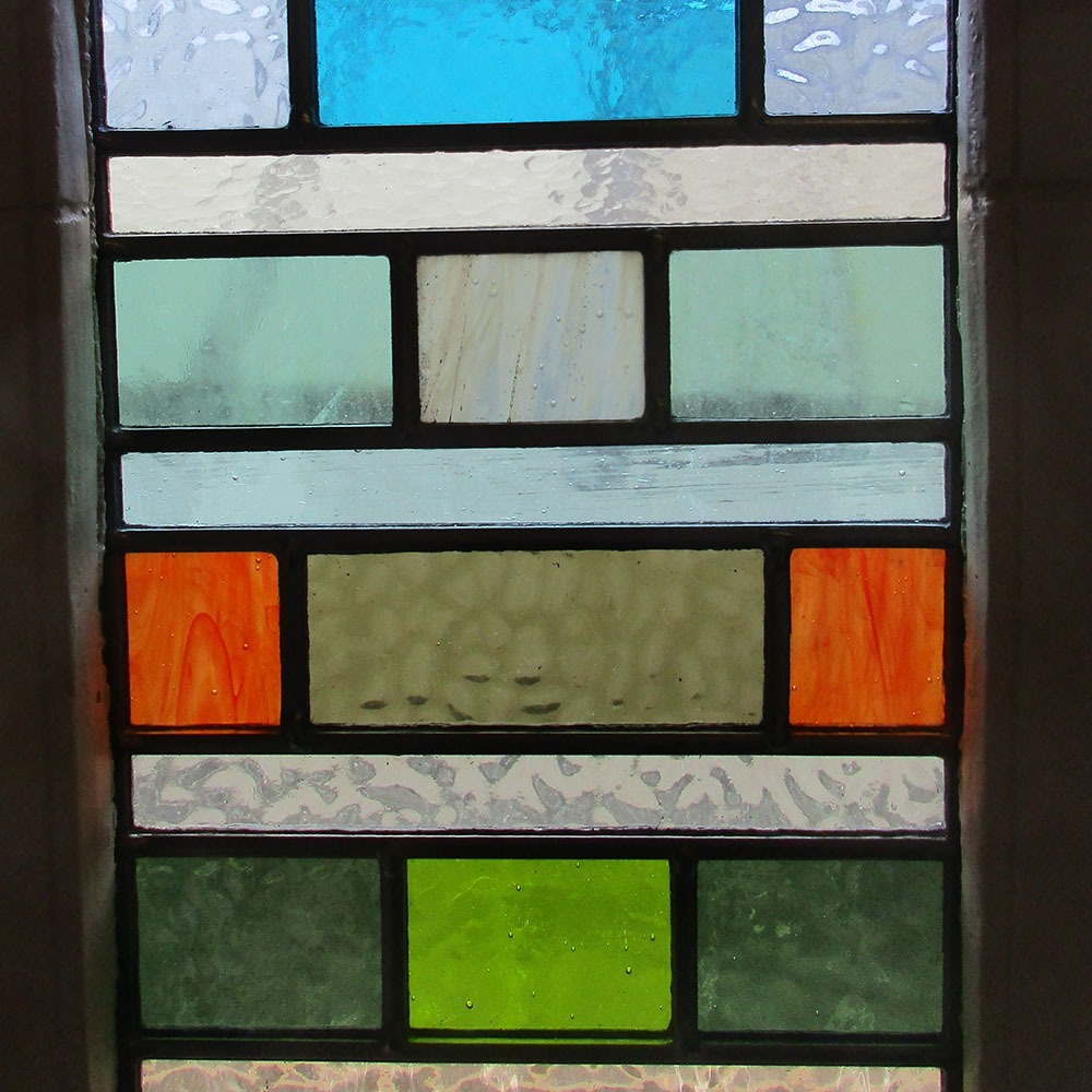 Colourful contemporary stained glass panels from period for Contemporary stained glass