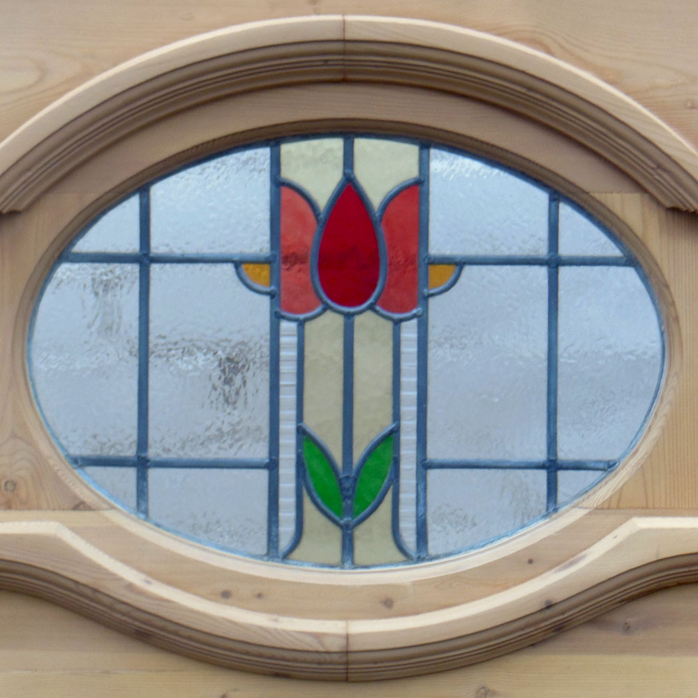 1930 period stained glass panel from period home style for 1930s stained glass window designs