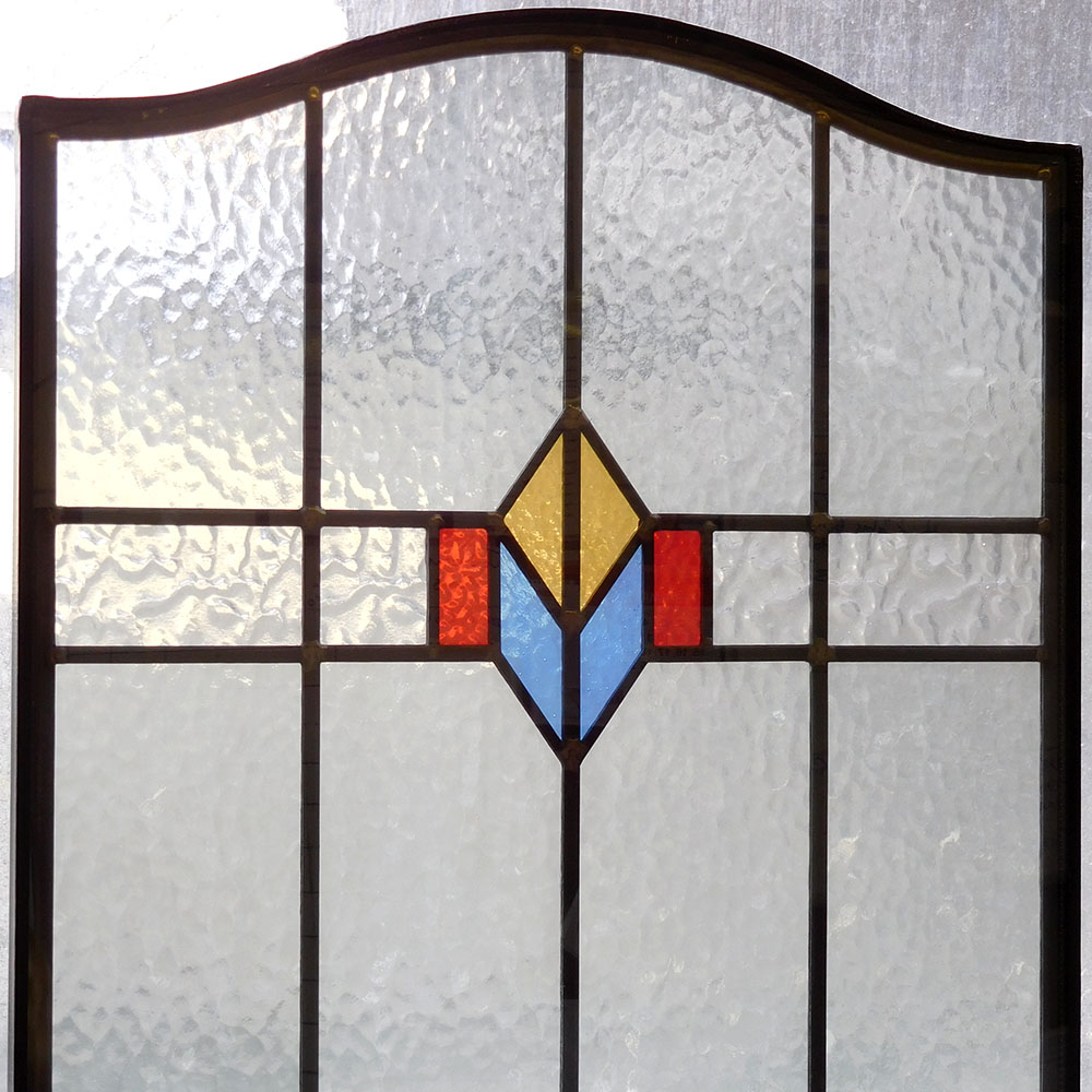 Simple stained glass 1930s panel from period home style for 1930s stained glass window designs