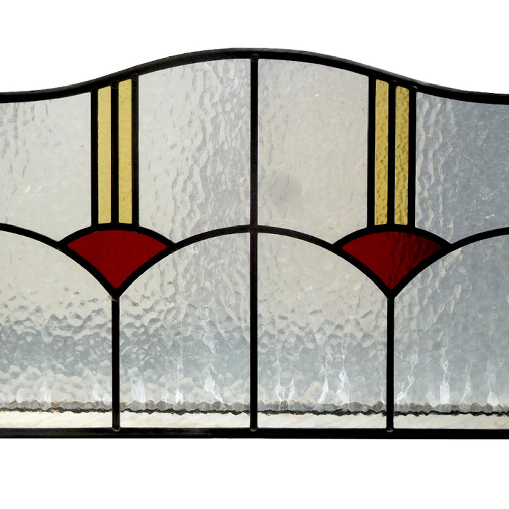 Stained glass 1930s panel from period home style for 1930s stained glass window designs