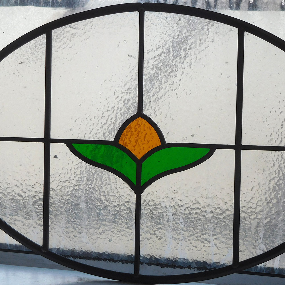Simple Stained Glass Panel From Period Home Style