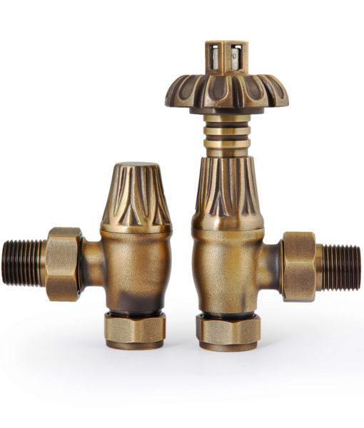 VAL012 - Natural Brass Thermostatic Chatsworth Valves (TRV)