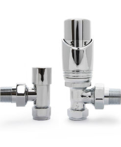 Chrome Angled Thermostatic Niva Valves