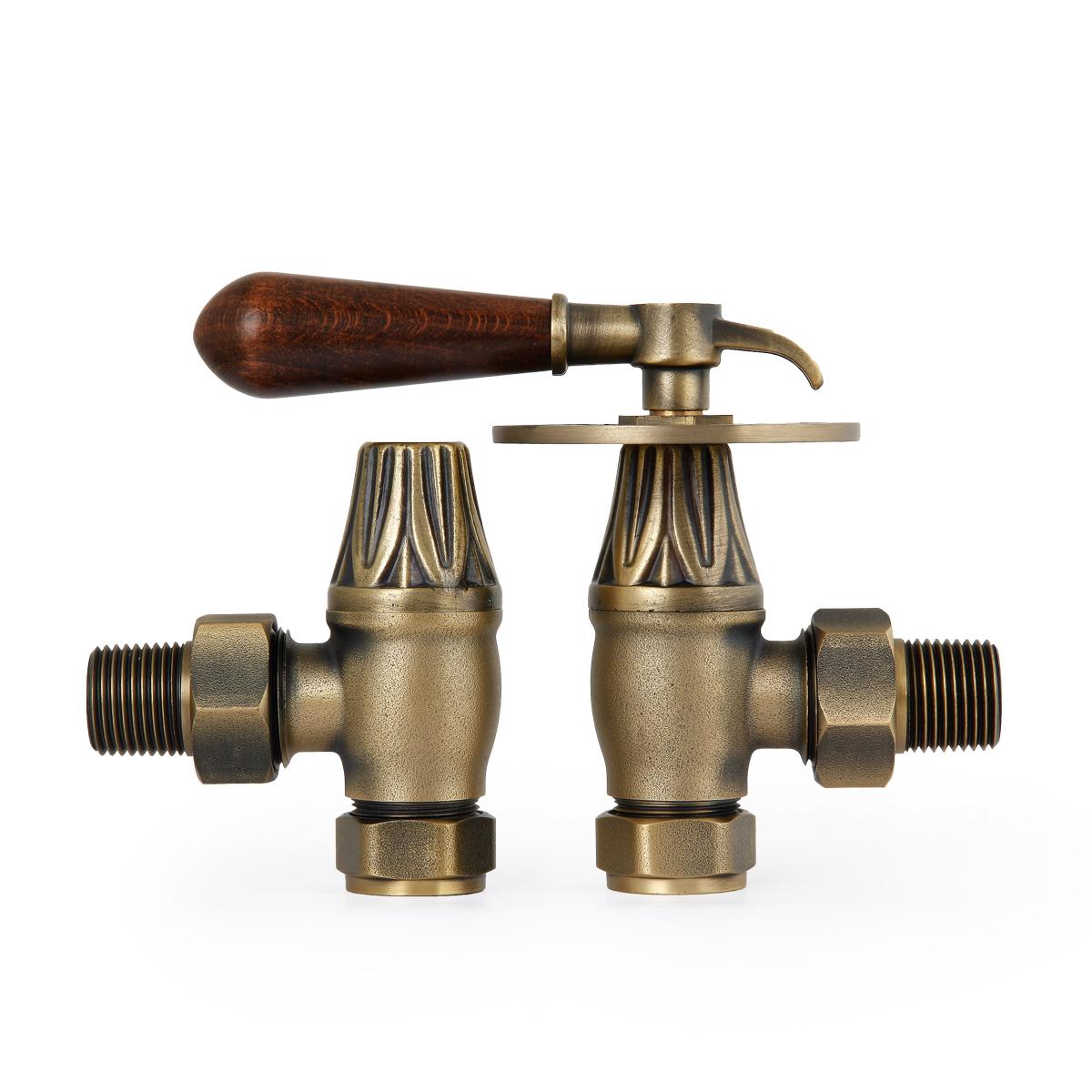 Brass Lever Valve : Natural brass renaissance lever handle valves period