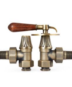 Natural Brass Renaissance Lever Handle Valves (Type A2)