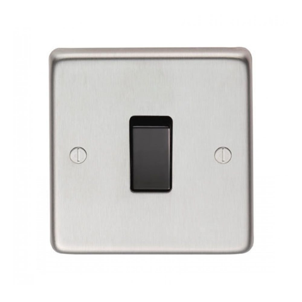 Satin Stainless Steel Intermediate Switch - Period Home Style