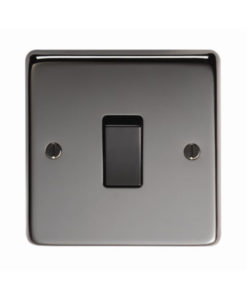 Black Nickel Single 20 Amp Switch