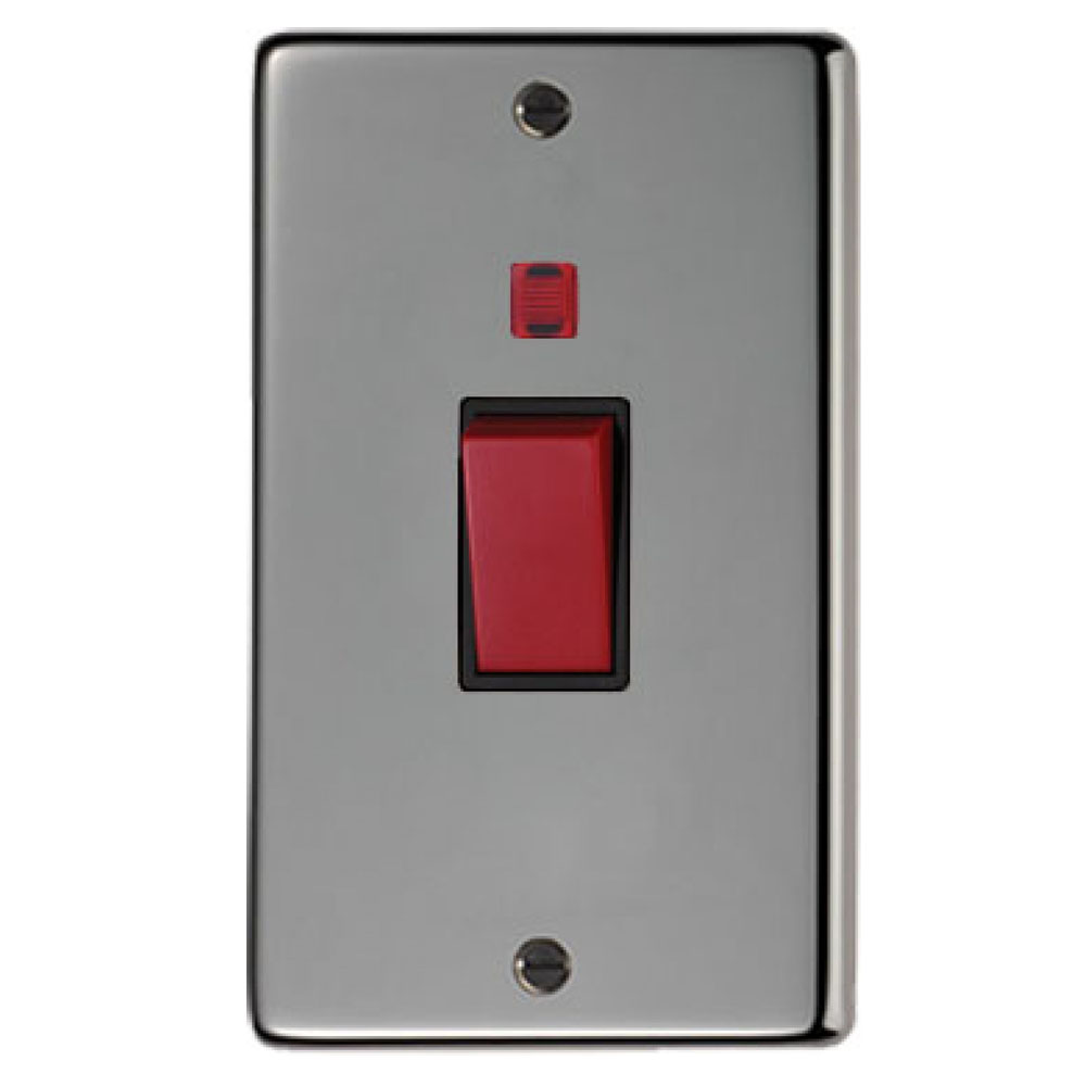 Black Nickel Double Plate Cooker Switch