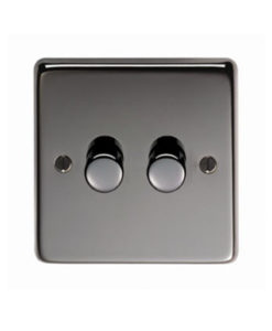 Black Nickel Double LED Dimmer Switch (400W/800W)