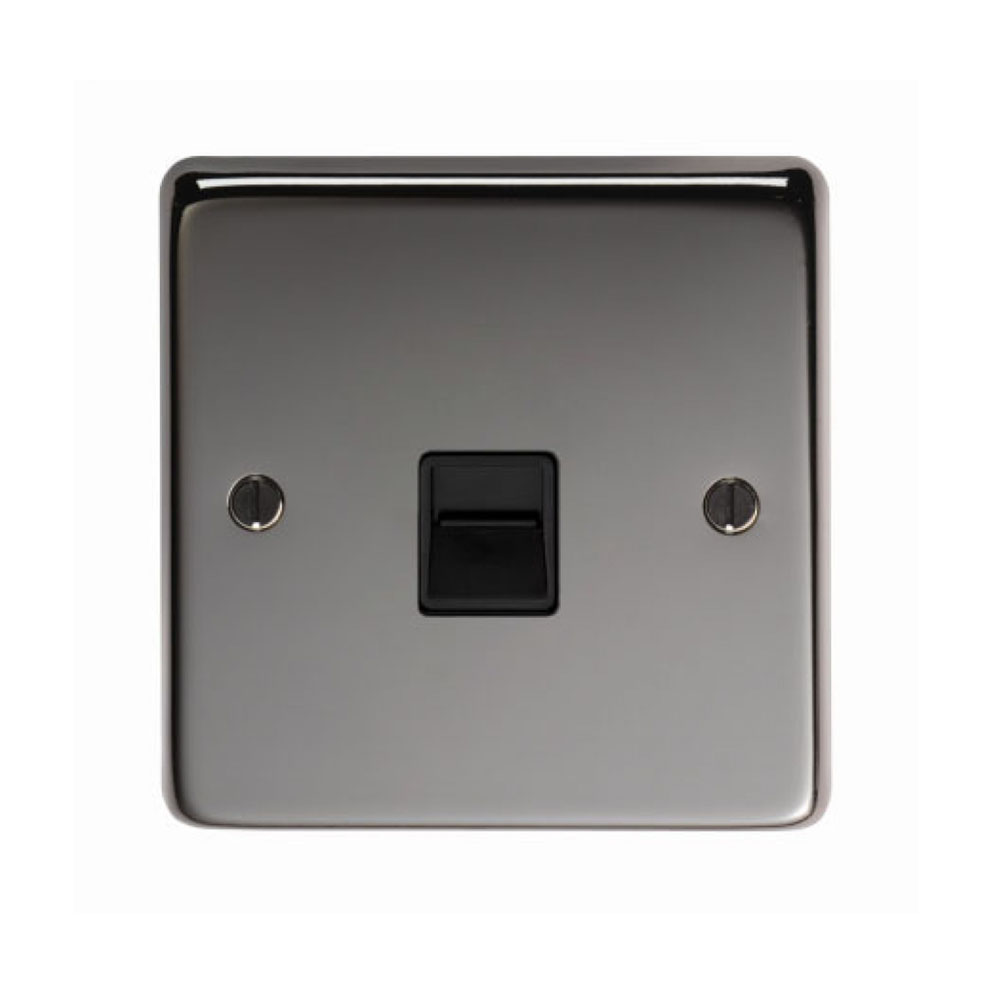 Black Nickel Telephone Slave Socket