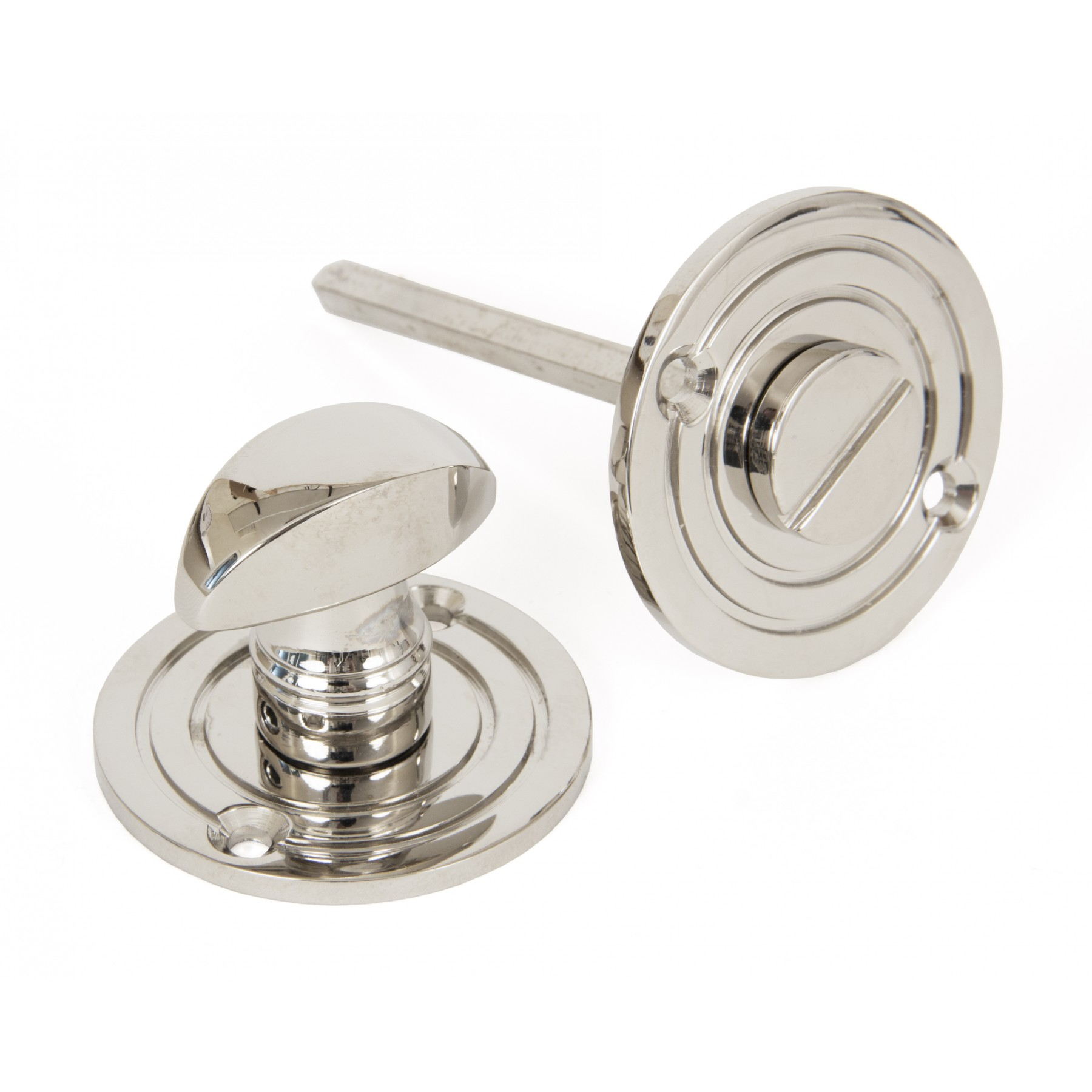 Polished Nickel Round Bathroom Thumbturn Period Home Style