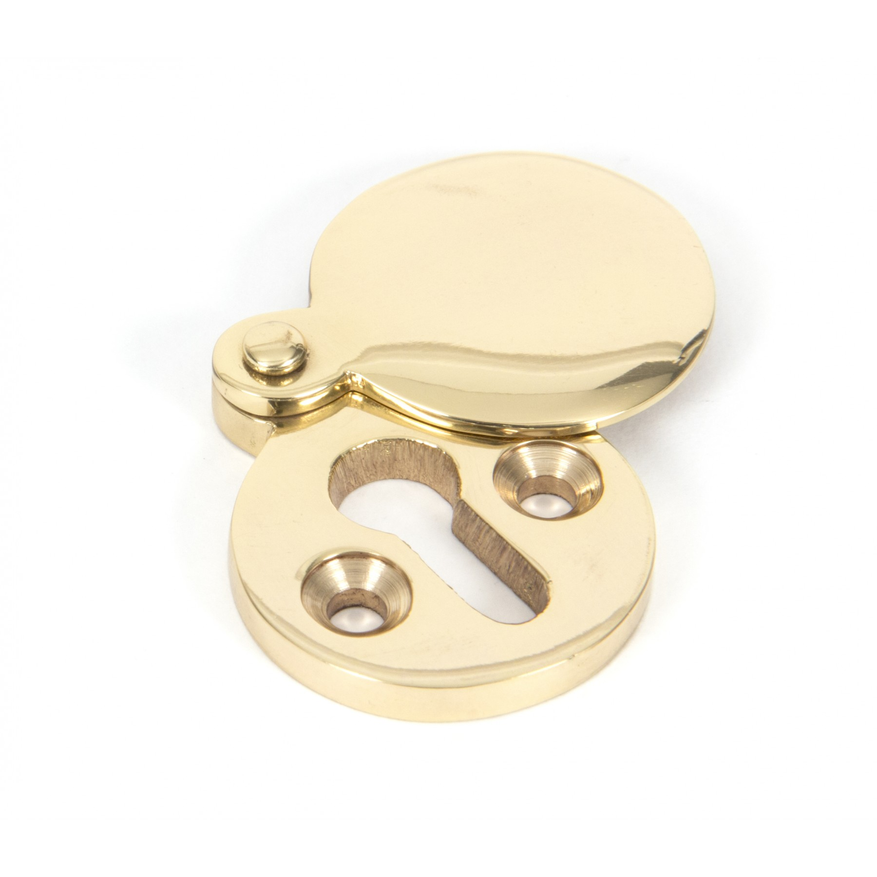 Polished Brass Round Escutcheon From The Anvil Period