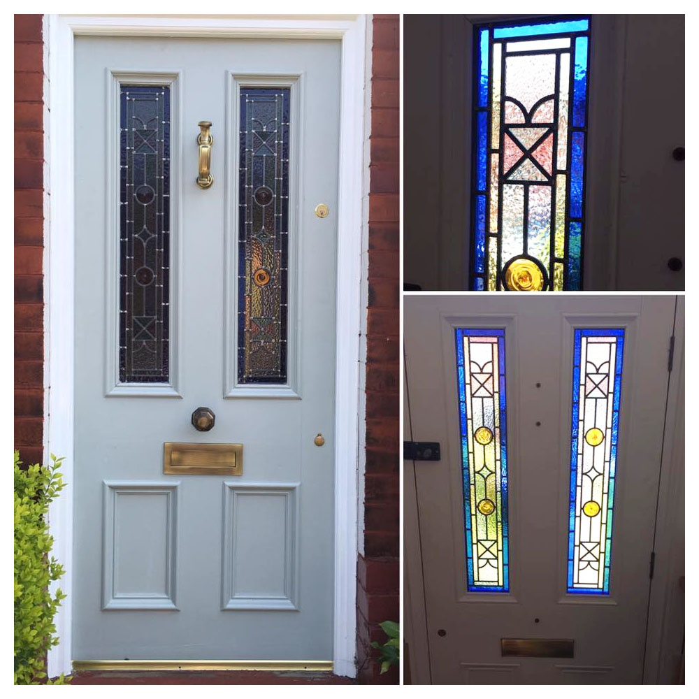 Kyle stained glass entrance door flash sale at period for House entry doors sale