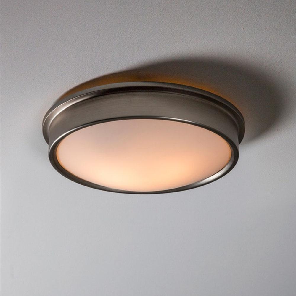 Satin nickel ladbroke bathroom ceiling light