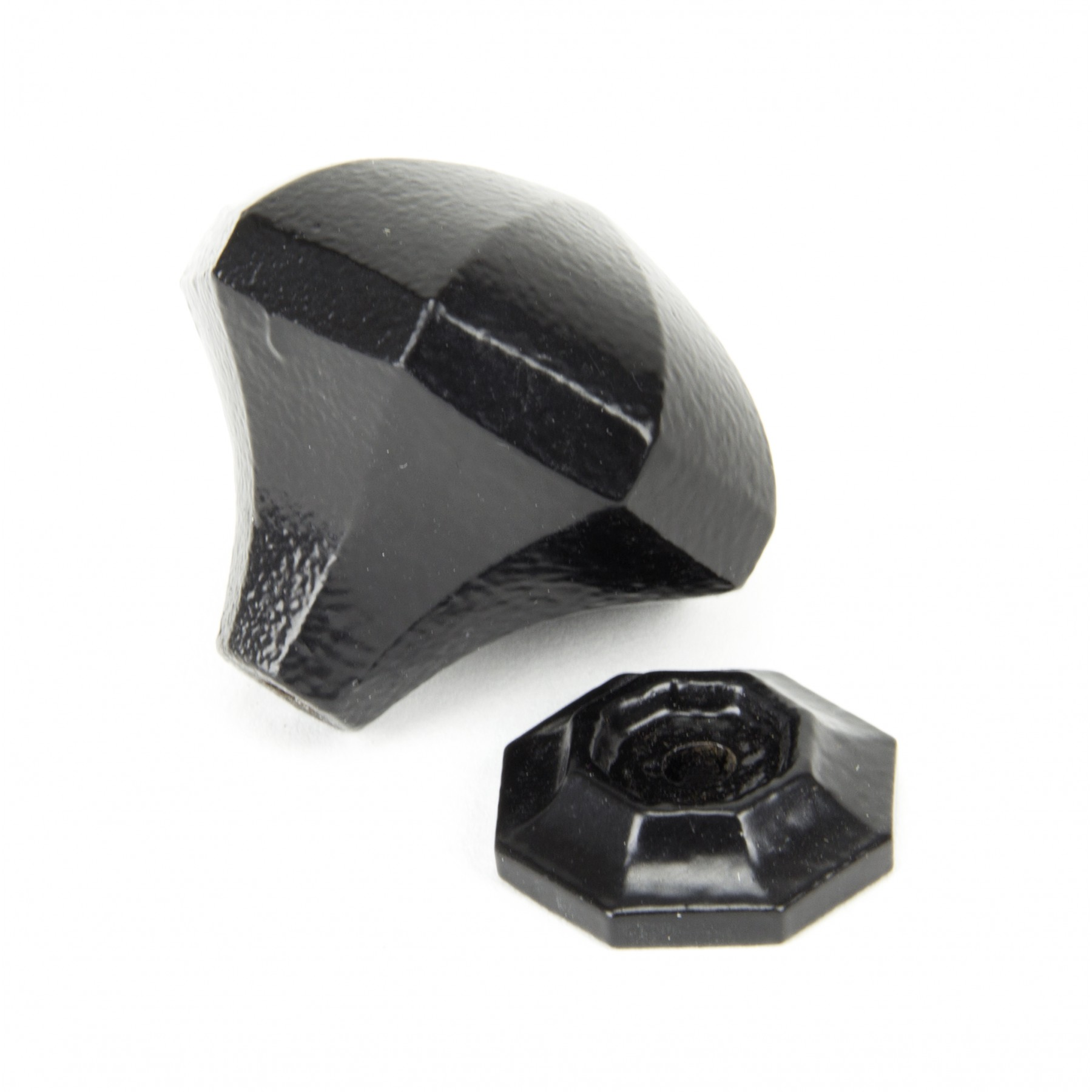 Beeswax Octagonal Cabinet Knobs Small: Black Octagonal Cabinet Knob (Large)
