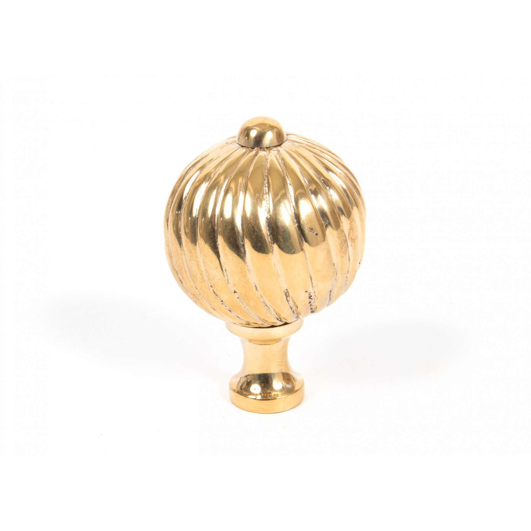 Polished Brass Spiral Cabinet Knob (Large)