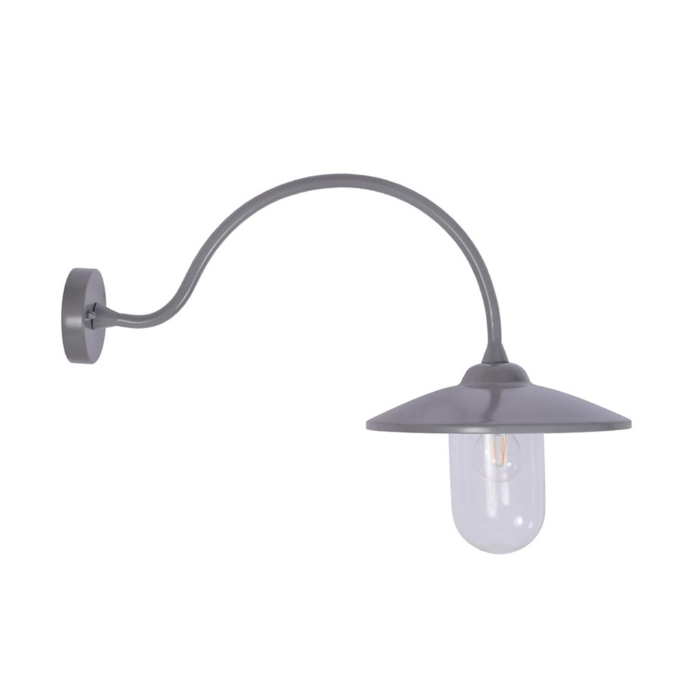 Arched Charcoal Swan Neck Light
