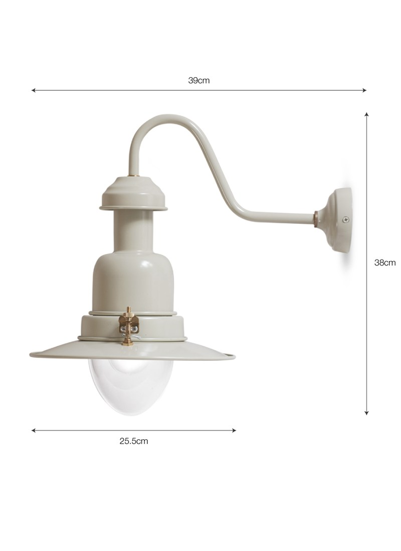 Wall Mounted Fishing Lamp : Wall Mounted Fishing Lamp In Clay (H38cm/D39cm) - Period Home Style