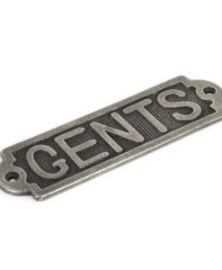 Antique Pewter Gents Door Sign