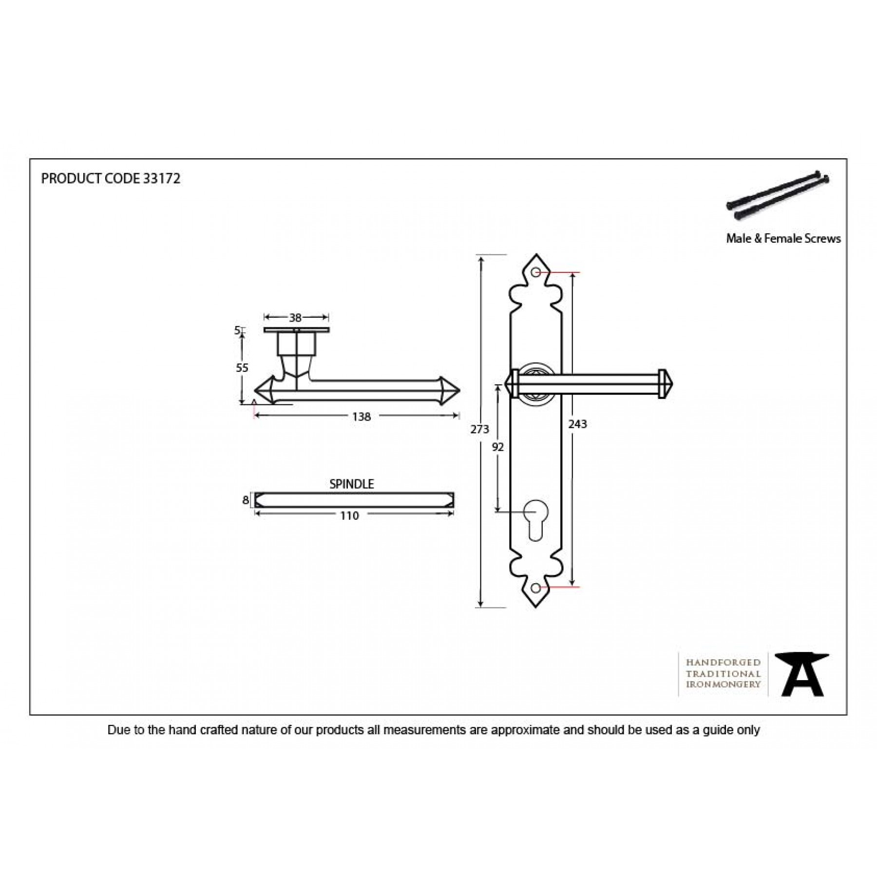 Lever Locking System : Black tudor lever espagnolette lock set from period home