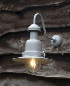Wall Mounted Fishing Lamp (Steel & Glass)
