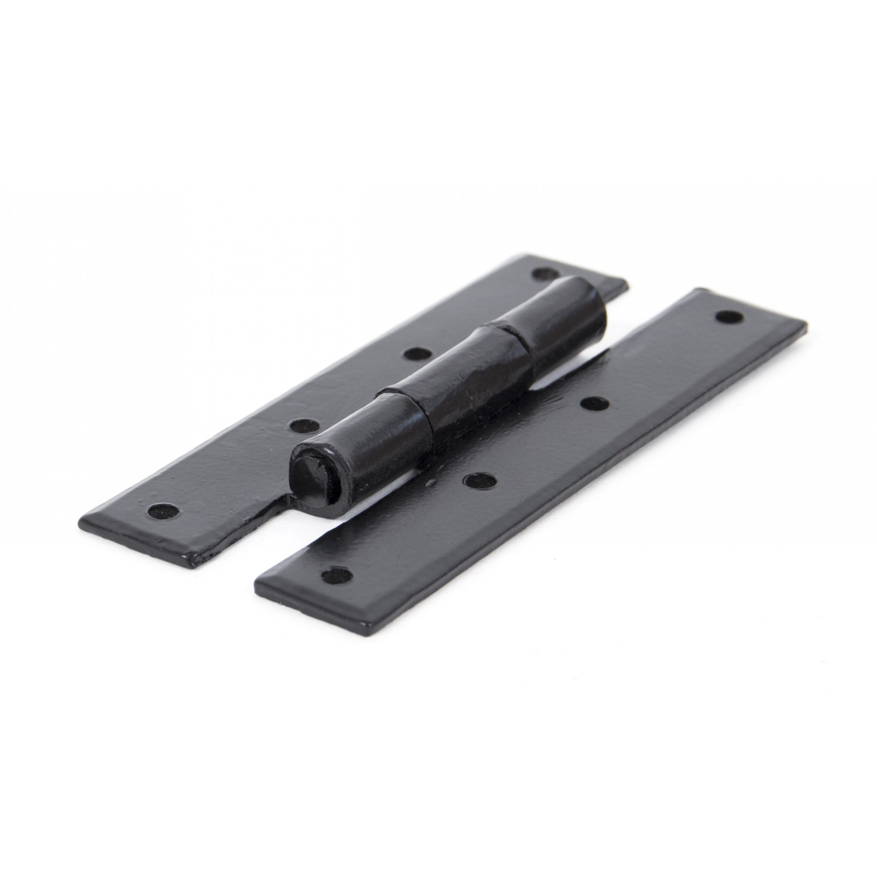 Black h hinge 4 pair ironmongery from period home style for Black hinges for kitchen cabinets