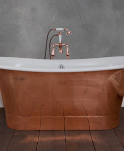 Normandy Copper Bath With Painted Interior