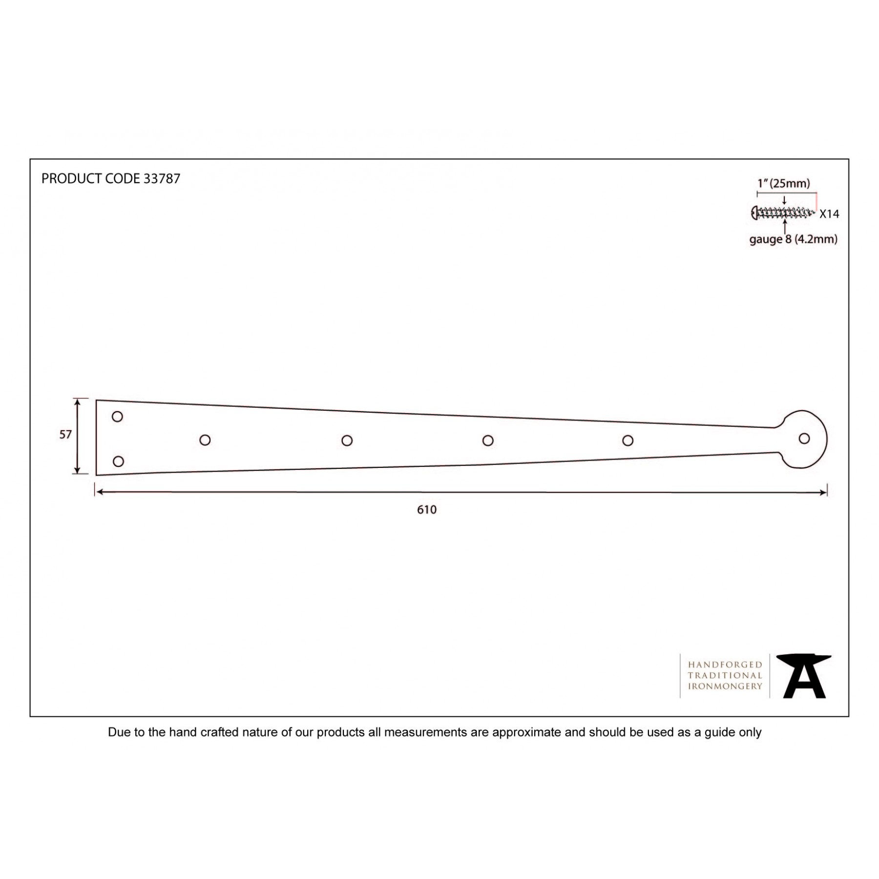 Pewter Hinge Front 24 Quot Pair Ironmongery From Period
