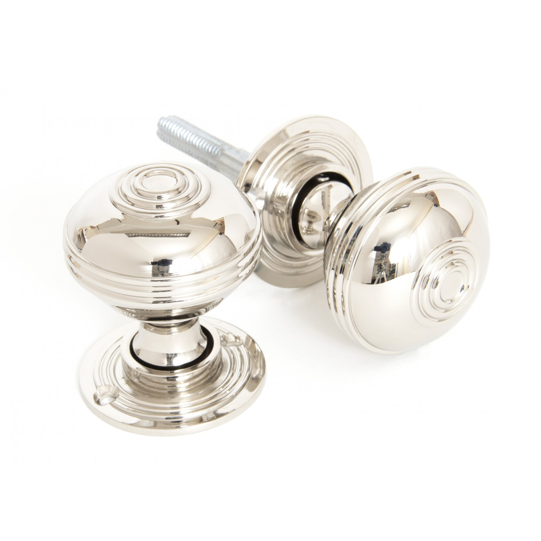 Polished Nickel Prestbury Knob Set For Sale