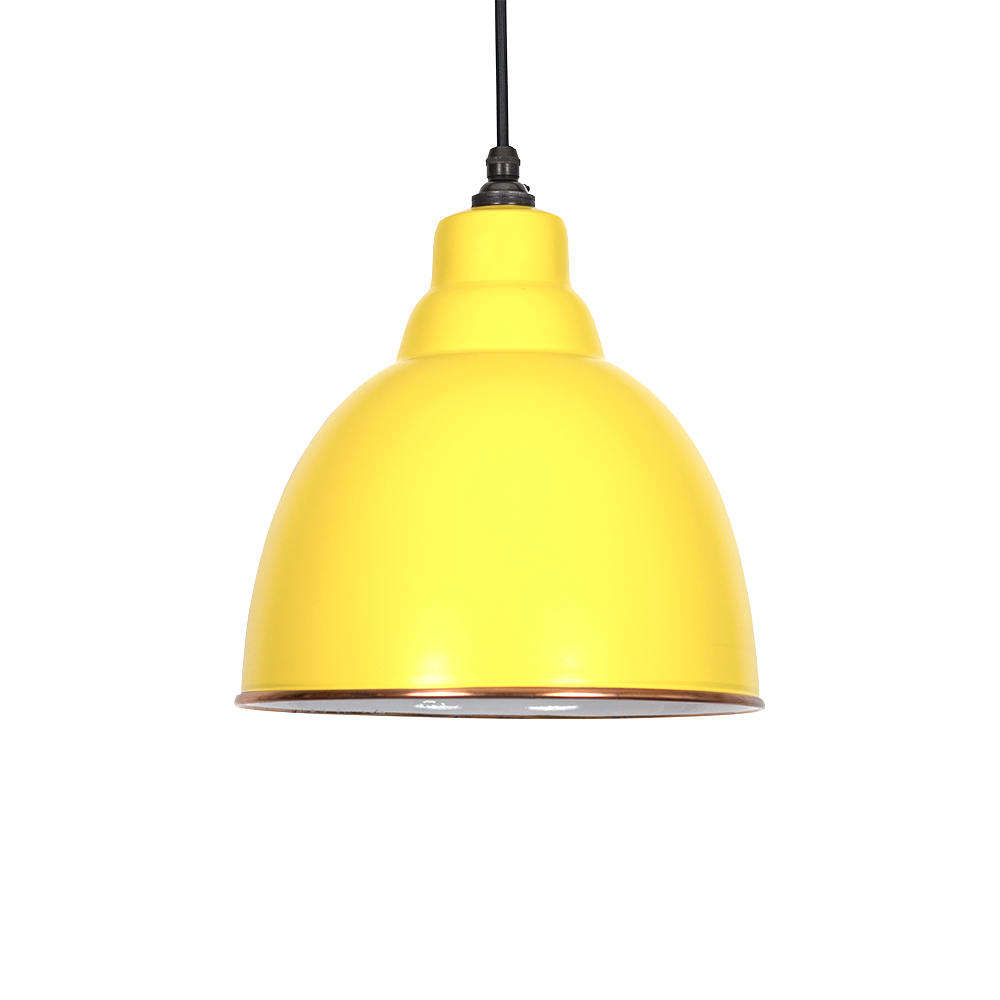 brindley pendant light in canary yellow white period