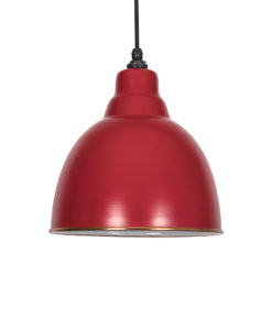 Venetian Red & White Brindley Pendant Light